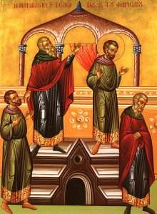 Icon of the Publican and the Pharisee